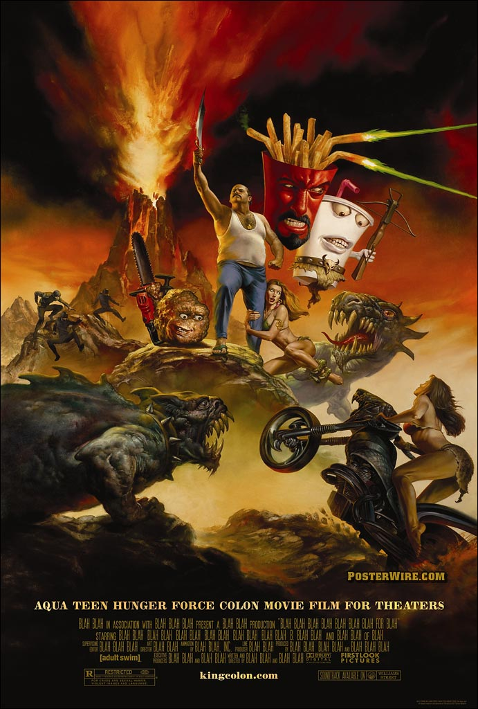 ... has created the poster for the upcoming Aqua Teen Hunger Force movie